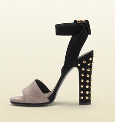 Gucci Madison Stud High Heel Platform Sandal