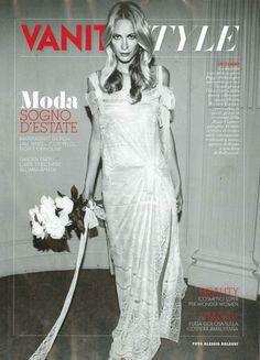 VANITY FAIR  ITALY – JULY 2011 #bride #wedding #albertaferretti #editorial #magazine #fashion #white #dress #poppydelevigne #vanityfair
