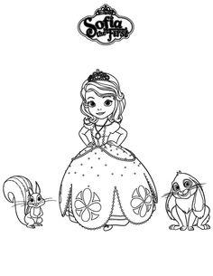 Dibujo para colorear de la Princesa Sofía (nº 6)