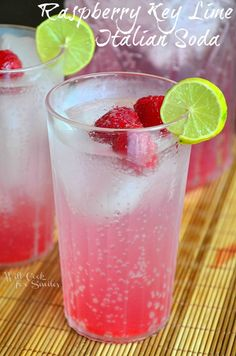 Float Party and Raspberry Key Lime Italian Soda - Will Cook For Smiles