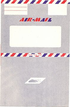 Vintage Air Mail Envelope