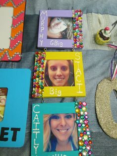 Little craft! @Cindy Harms Kappa Sorority #sigmakappa #sorority #craft little crafts, famili, sorority crafts, tree crafts, picture frames, soror craft, family crafts, craft ideas, frame crafts