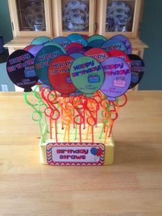 Birthday crazy straw Freebie