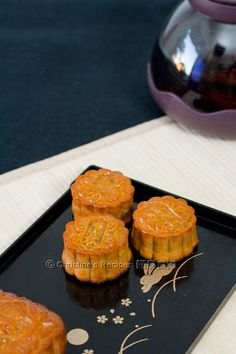 Traditional Mooncakes (港式月餅) - a must-have snack for Mid-Autumn festival .