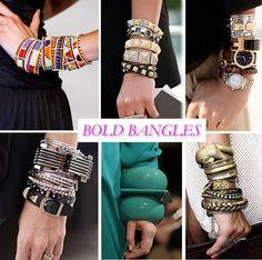 Bangles, bangles and more bangles.