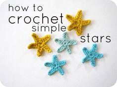 #DIY Cornflower Blue: crochet tutorial :: simple stars
