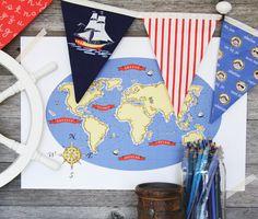 Nautical Map- by Sarah Jane