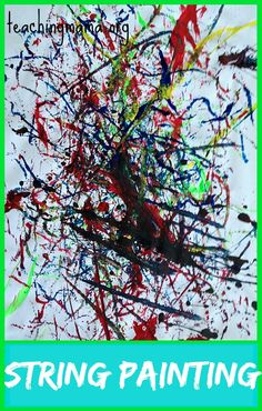 String Painting, an easy art activity