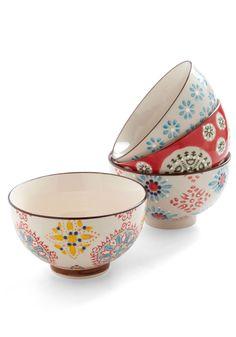 Housewarm and Tasty Bowl Set - Multi, Boho, Multi, Print