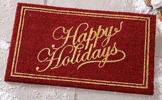 Happy Holidays Front Door Mat