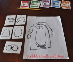 Scribble Doodle and Draw: Pick and draw cards