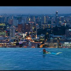 gorgeous view with vanishing edge pool