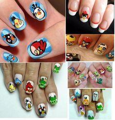 bird nail, para uña, nailart uña, nail arts, nails