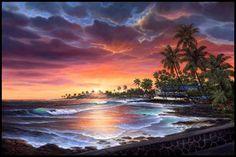 The lovely Village of Kailua-Kona, Hawaii
