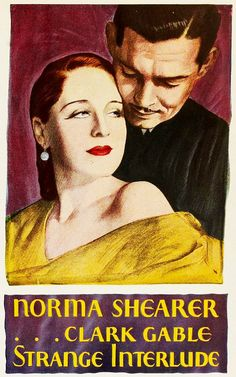 Strange Interlude starring Norma Shearer and Clark Gable, 1932. #vintage #1930s #movies
