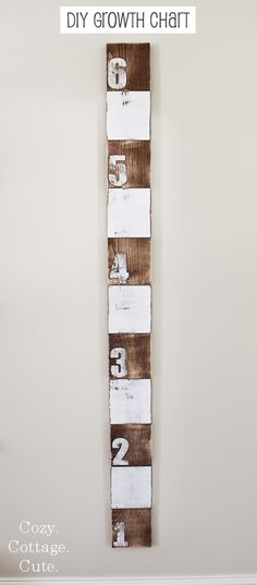 Cozy.Cottage.Cute.: DIY Growth Chart Tutorial.  Love this DIY growth chart for my new baby's room.