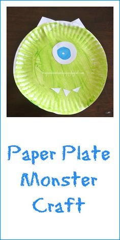 Frogs and Snails and Puppy Dog Tail (FSPDT): Paper Plate Monsters Craft
