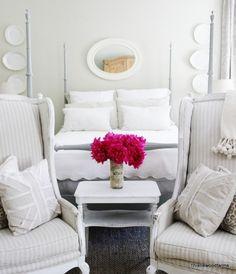 Khaki and White Master Bedroom