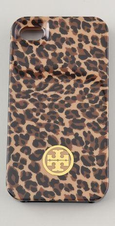 tory burch leopard print iphone case