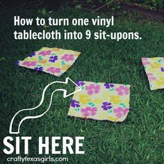 summer crafts, tablecloth, sit upon, girl crafts, daisi, girlscout, girl scout daisy crafts, brownie girl scout crafts, daisy girl scout crafts
