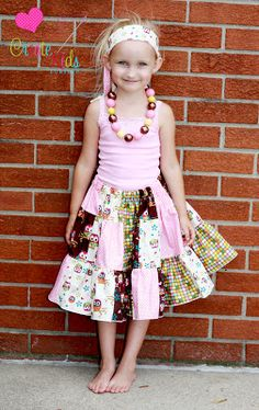 Paisley's Patchwork Skirt FREE PDF Sewing Pattern by Create Kids Couture