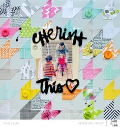 #papercraft #scrapbook #layout.  The One with the 2Peas Daily Life Layout & Video