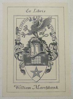 Armorial bookplate of William Marchbank
