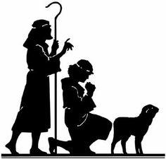 Christmas - Shepherds - Vintage Image. , via Etsy.