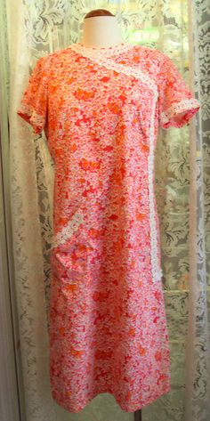 Vintage Lilly Pulitzer Red Floral Butterfly Dress 1960, on Etsy at RetroRosiesVintage