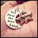 I Love You To The Moon and Back Moon and Stars at Sweet Blossom Gifts