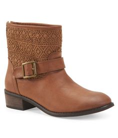#Crochet Inspired Buckle Boot at Aeropostale