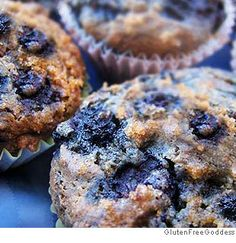 Vegan Blueberry Muffins- this updated vegan and gluten free recipe is wheat-free, egg free, soy free and nut free. Allergen-free goodness and you lose none of the flavor.