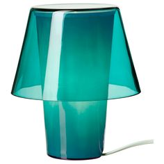 GAVIK Table lamp - blue/frosted glass - IKEA