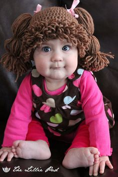 Cabbage Patch Crochet Hat - I have to have this for my kid one day.
