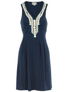 Dorothy Perkins  Navy beaded tunic dress $17