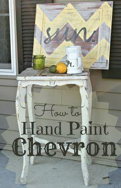How to Hand Paint Chevron