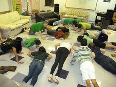 Push ups for donuts - great youth activity from Room 214 - Creative Youth Ministry