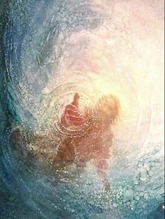 """When Peter saw the wind, he was afraid &, beginning to sink, cried out, """"Lord, save me!"""" Immediately Jesus reached out His hand & caught him."""" Matthew14:30-31// He reached down from on high & took hold of me; He drew me out of deep waters. Psalm18:16"""