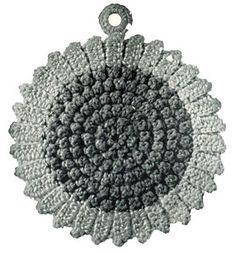 Sun Flower Potholder - free crochet pattern