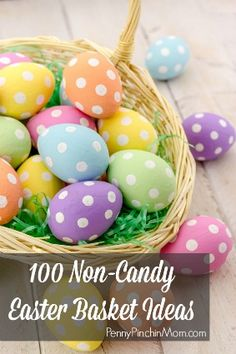 100 Non Candy Easter Basket Ideas!  Many very inexpensive options!  #easter #ideas #baskets www.pennypinchinmom.com