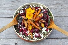 Lentils with Roasted Beets and Carrots from PBS Food