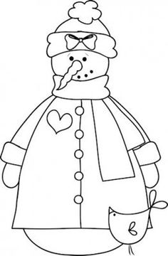 snowman coloring pages, color sheets