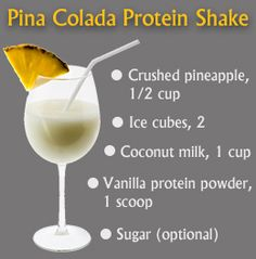 Pina Colada Protein Shake Message me to get your Arbonne protein mix! katrinahummer@yahoo.com