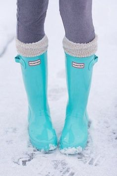 Hunter Rainboots in Tiffany Blue