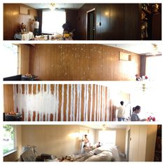 Painting over wood panels