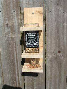 bottl bird, bird feeders, whiskey bottle crafts, daniel whiskey, christma idea