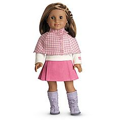 American Girl® Clothing: Cozy Plaid Outfit + Charm