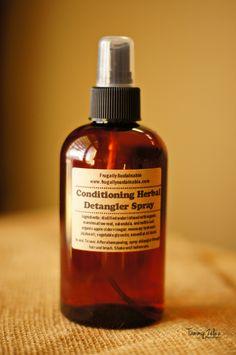 Conditioning Herbal Detangler Spray. $10.00, via Etsy.