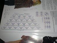 Gráfico de chal a crochet