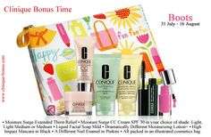 This is a gift which you can get at Boots now. Just make a purchase of 2 Clinique items. http://clinique-bonus.com/united-kingdom/